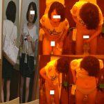 トイレ安らぎ㉕革ジャン黒スト、あくびお姉さんはブラも披露。6名新作