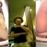女子トイレ盗撮(219)新発明!タテ設置便器内カメラ起立後も嬉しタテLED超広角便器内前外撮等全6名