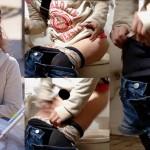 ママトイレ盗撮(02)デロンと伸びるほどに履き込んだバーバリー柄パンティーの可愛いヤンママ他5名