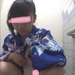 海のトイレを前から撮ってみたら12沖縄の〇〇祭り浴衣編(かなり若め)